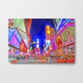 Times Square New York Pop Art Metal Print