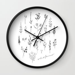Wildflowers II Wall Clock