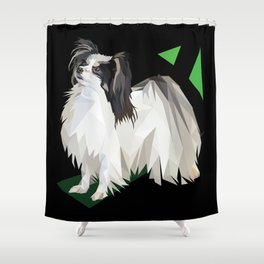 Papillon (Butterfly Dog) Shower Curtain