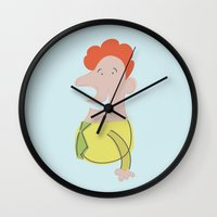 dad Wall Clocks featuring Dad by Subcutaneo