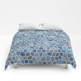 Blue Mosaic Pattern - Light Comforters