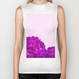 Purple Peonies On A Pink Background #decor #society6 #buyart Biker Tank