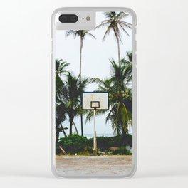 Basketball on Isla Bastimento, Bocas del Toro, Panama Clear iPhone Case