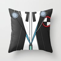 persona Throw Pillows featuring Persona 3 Protagonist Uniform by Bunny Frost