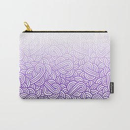 Gradient purple and white swirls doodles Carry-All Pouch