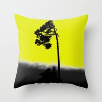 lonely Throw Pillows featuring lonely  by Nikos