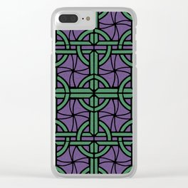 Stained Glass - Purple and Green Clear iPhone Case
