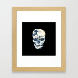 The Great Wave off Skull Framed Art Print
