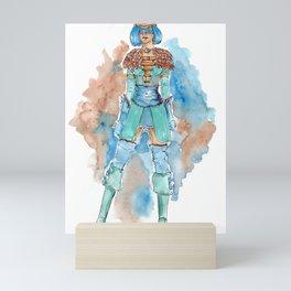 Skyrim's Queen of warriors by watercolor Mini Art Print