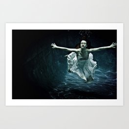 abyss of the disheartened : girl I Art Print