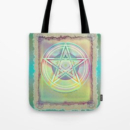 Rainbow Ghosted Pentacle Tote Bag