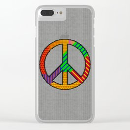 Peace – Knitting Style Clear iPhone Case