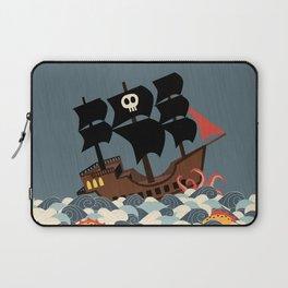 Pirates on stormy seas Laptop Sleeve