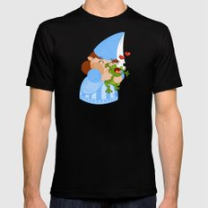 kissing the enchanted frog MEDIUM Black Mens Fitted Tee