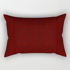 Dark Black and Red Romantic Plaid Rectangular Pillow