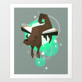 Otter Bookmark Art Print