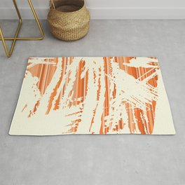 Abstract Retro Grungy Background  Rug
