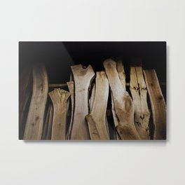 Wood Slabs Metal Print
