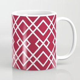 University of Alabama colors trendy patterns minimal pattern college football sports Coffee Mug