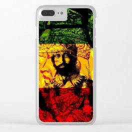 Haile Selassie Lion of Judah Clear iPhone Case