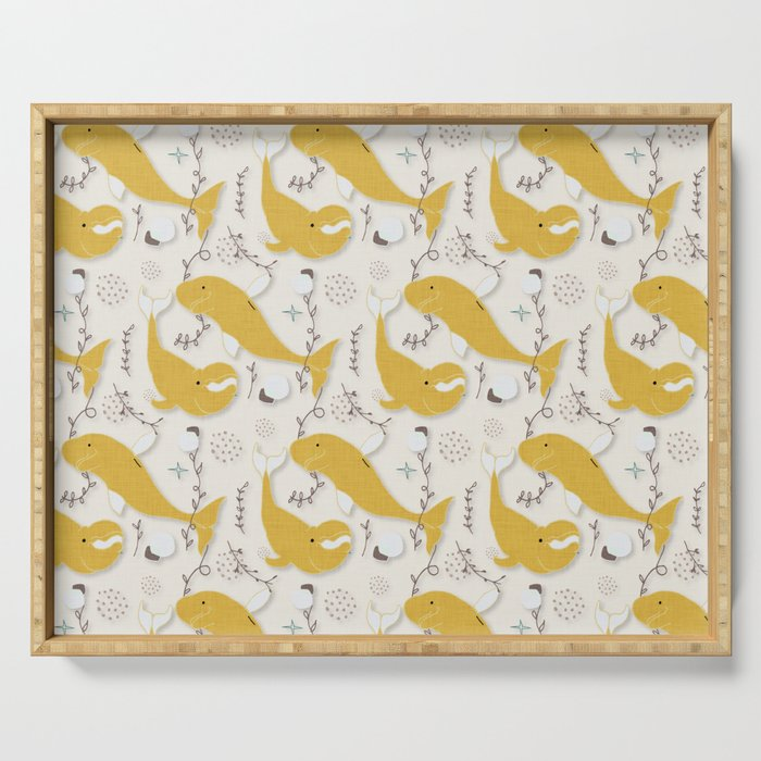 Beluga Whale Yellow #homedecor Serving Tray