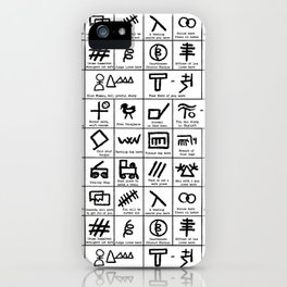 Hobo Code iPhone Case