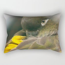 Burrowing Parrot Rectangular Pillow