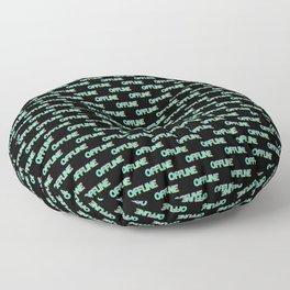 Offline Aesthetic Vaporwave Japanese Disconnected  Floor Pillow