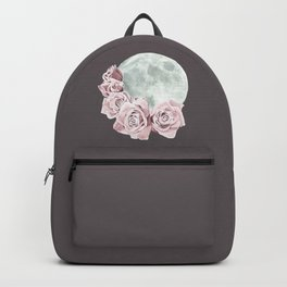 Roses and Moon (Gray) Backpack