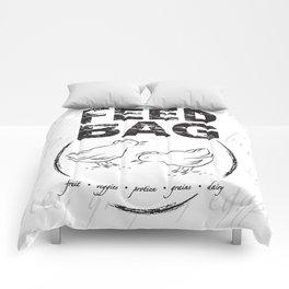 FEED BAG/Black & White Comforters