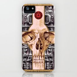 Cross Skull H.R.Giger Style iPhone Case