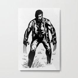 Black Oldman Logan Metal Print