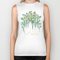 forest Biker Tanks featuring Re-paint the Forest by Picomodi