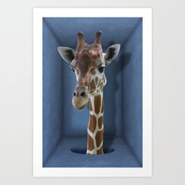 Introvert - Shy Giraffe Art Print