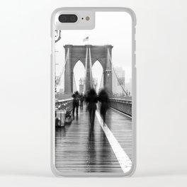 Brooklyn Bridge Walk Clear iPhone Case