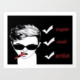super cool artist Art Print