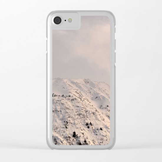 Turnagain Arm Mountain Clear iPhone Case