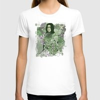 snape T-shirts featuring Portrait of a Potions Master by Karen Hallion Illustrations