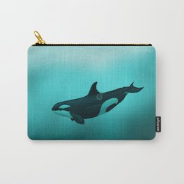 """Lost in Paradise"" by Amber Marine ~ Killer Whale ~ Orca ~ Original Version ~ (Copyright 2015) Carry-All Pouch"