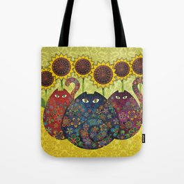 Cats & Sunflowers Tote Bag