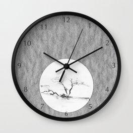 Scots Pine Paper Bag Grey Wall Clock