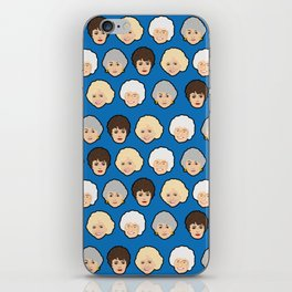 The Golden Girls Blue Pop Art iPhone Skin