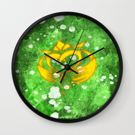 Claddagh Irish Celtic Splatter Wall Clock