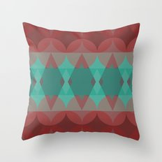Red vs. Green Throw Pillow