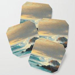 Vintage Ocean Oil Painting Coaster