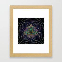 All Seeing Mystic Eye in Lotus Flower Framed Art Print
