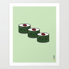 Tuna Roll Sushi Art Print