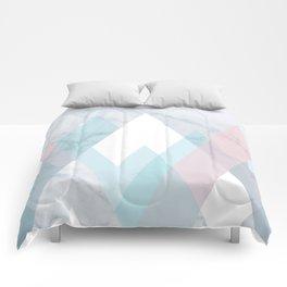 Snowy Peak on Marble Comforters