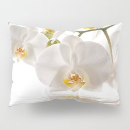 White Orchids Pillow Sham