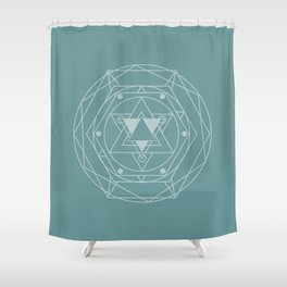 Vintage Module  Shower Curtain